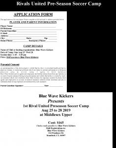 2019 Rivals Preseason Soccer Camp
