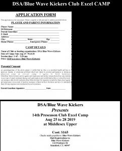2019 DSA-BWK Club Excel Camp